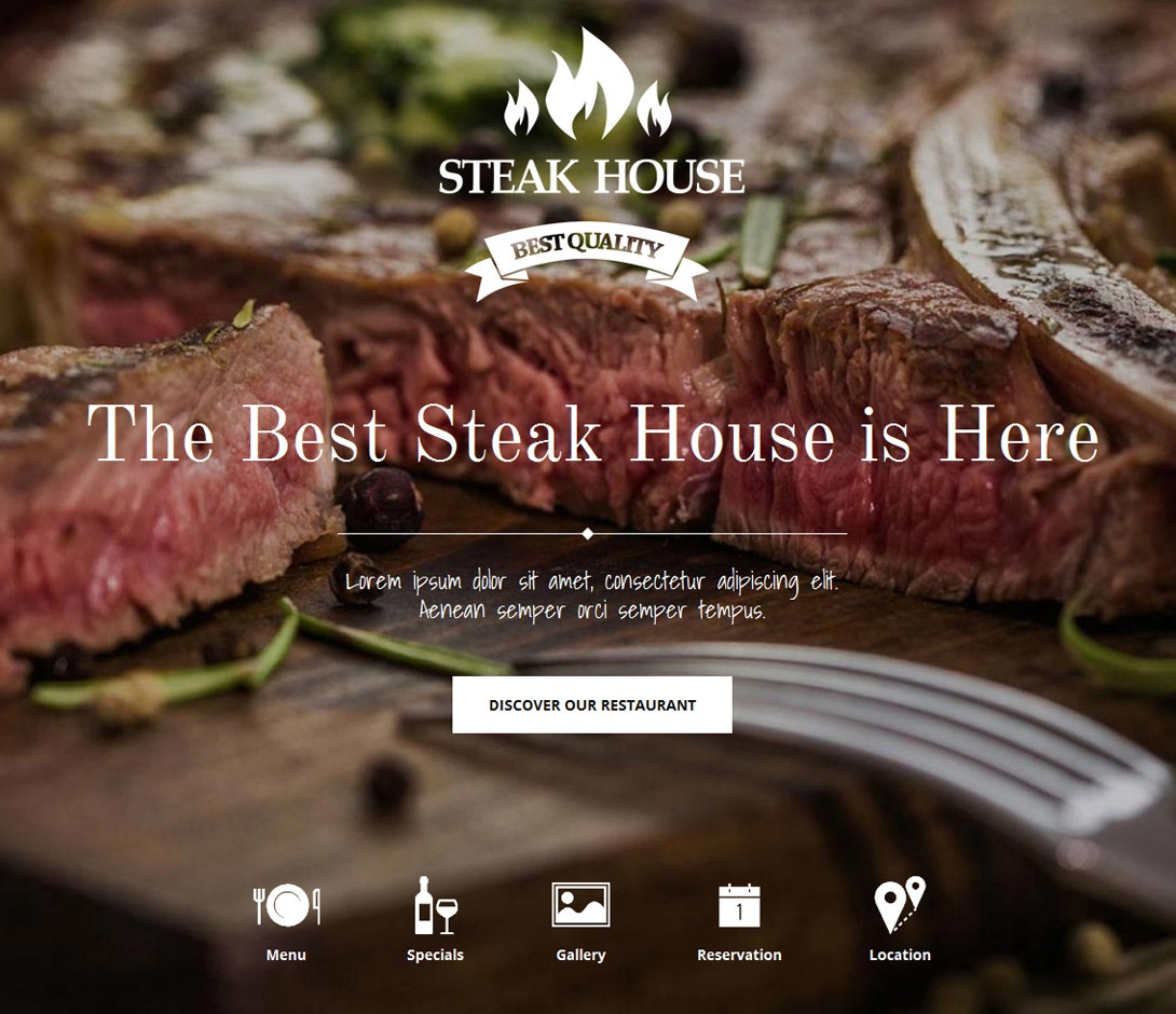Steakhouse вебсайт
